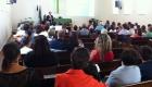 Pastor Winterle falando da missão na África